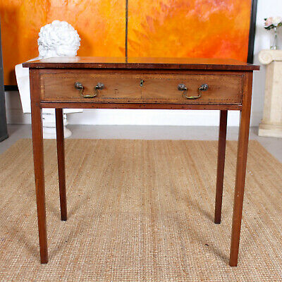 Antique Georgian Desk Mahogany Writing Table Fitted Drawer Country Arts Crafts