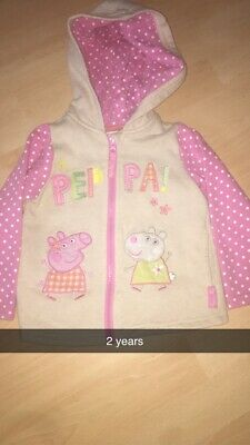 Girls Peppa Pig Hoodie Jumper 2years