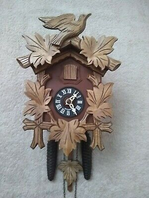 Black Forest Mechanical Hubert Herr 30 Hour Cuckoo Clock in Excellent Condition