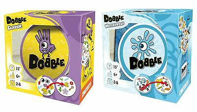 Official Dobble Bundle! Dobble Classic & Dobble Waterproof (Beach) Card Game!