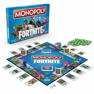 HOT! Monopoly Fortnite Edition Board Game New and Sealed Family Party Board Game