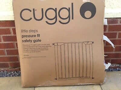 Cuggl Red High Chair And Cuggl White Pressure Fit Safety Gate Bundle
