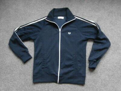 Fred Perry  UK 12 , ZIPPED  BLACK  Track Top Jacket  NEW