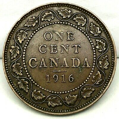 Canada-1916  - Large Cent - George V - Bronze Coin #1  KM#21