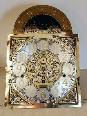 SLIGH Germany Made Grandfather Clock Face & Movement 2071-850 - PARTS or REPAIR!