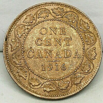 Canada-1916  - Large Cent - George V - Bronze Coin #2  KM#21