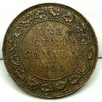Canada-1920  - Large Cent - George V - Bronze Coin #2 KM#21