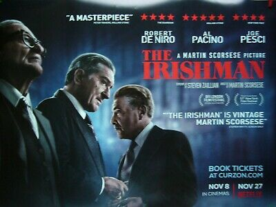 The Irishman - Original Quad Film Poster Martin Scorsese - De Nero  Pacino Pesci