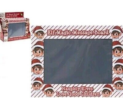 Christmas Elf Magic Slate Message Board Naughty Elves Prop Shelf Accessories