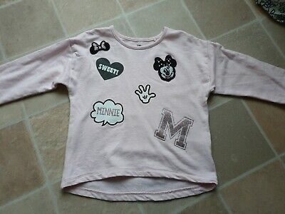 Disney @ Next Minnie Mouse Pale Pink Jumper 4-5 Years Excellent Condition