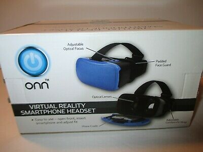 Onn Virtual Reality Smartphone Headset for iPhone,Samsung,Smartphones up to 6""