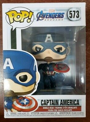 Funko Pop Marvel Avengers Endgame CAPTAIN AMERICA W/SHIELD AND MJOLNIR IN STOCK!