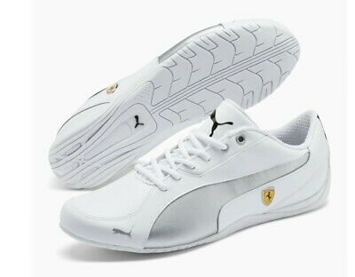 Mens Puma Ferrari Sf Drift Cat 5 Nm White Silver Scuderia Driving Sneaker Shoes