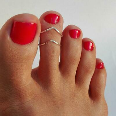 2PCS Toe Ring For Sexy Women Adjustable Toe Ring  Finger Open Ring Foot Jewelry
