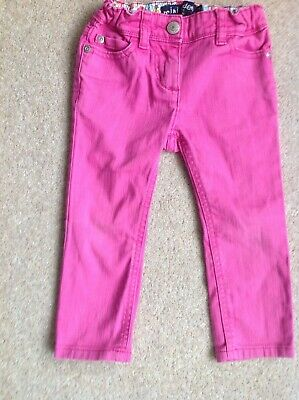 Mini Boden girls pink skinny jeans age 2 VGC