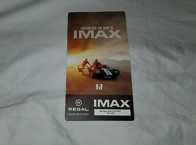 Ford Vs Ferrari Limited Edition Collectible IMAX Movie Ticket # /500