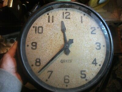 GENTS OF LEICESTER ELECTRIC CLOCK  for restoration  barn find