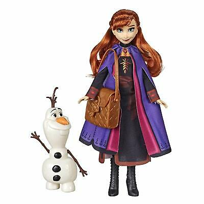 Disney Frozen Anna Doll with Buildable Olaf Figure & Backpack Accessory, Inspire