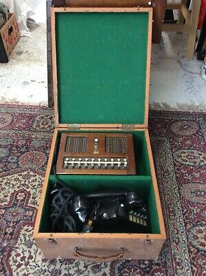 Vintage 1940s Automatic Telephone & Electric Co Phone & Switchboard Exchange