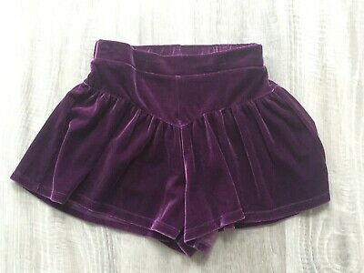 Next Girls Deep Purple Velvet Skort Shorts 7 Years Vgc Hardly Worn