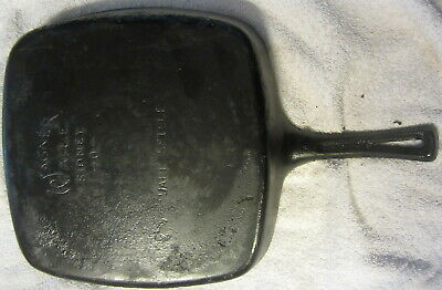 Wagner Ware Sidney O Ohio Cast Iron Square Skillet A Thumbprint Fry Pan,antique