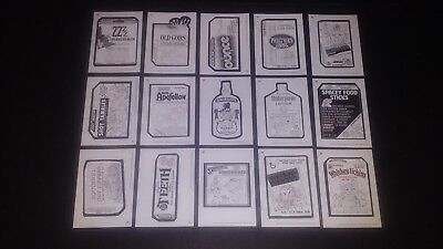 2018 Topps Wacky Packages Old School Series 7 os7 Pencil Sketch Cards Lot 16-30