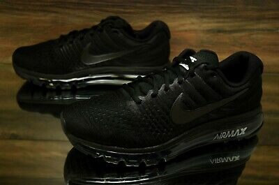 Nike Air Max 2017 Triple Black 849559-004 Running Shoes Men's Multi Size NEW