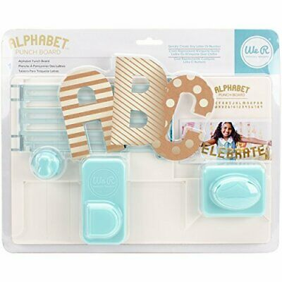 We R Memory Keepers Alphabet Punch Board, Materiales sinté(Tablero alfabeto)