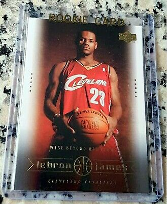 LEBRON JAMES 2003 Upper Deck SP #1 Draft Pick Rookie Card RC MVP Lakers $$ HOT $