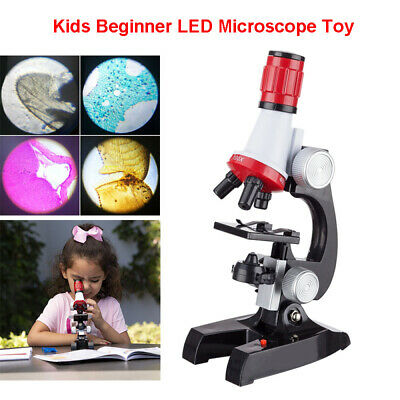 100X 400X 1200X Kids LED Microscope Magnification Educational Science Toys Gift