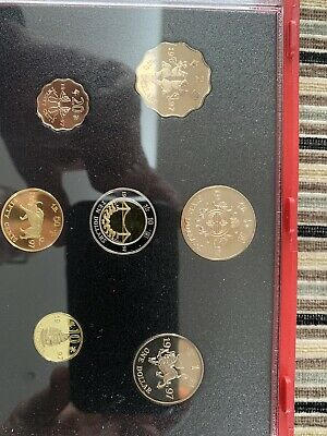 1997 Hong Kong Proof Set 7 Coin Collection By Royal Mint In Original Box