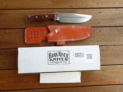 Bark River Cpm 3V Bravo Survivor Knife With Leather Sheath And Box