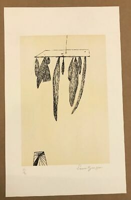 Lithographie 1984 signiert Louise Bourgeois (1911-2010)  Sheaves