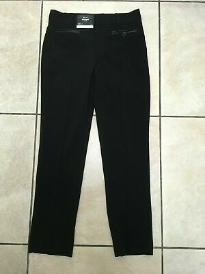 New Look 915 Girls School PU Trim Straight Trousers 10 or 11 Years BNWT Black