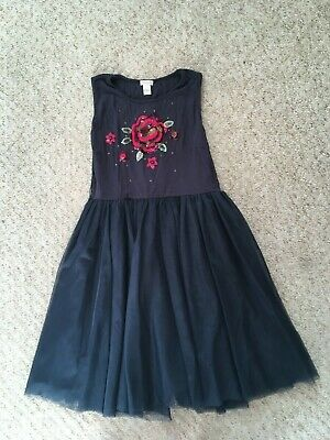STUNNING GIRLS MONSOON NET TULLE PARTY DRESS 12-13 Yrs CHRISTMAS PARTY APPLIQUÉ