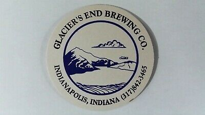 Glacier's End Brewing Co. Beer Coaster, Indianapolis, IN