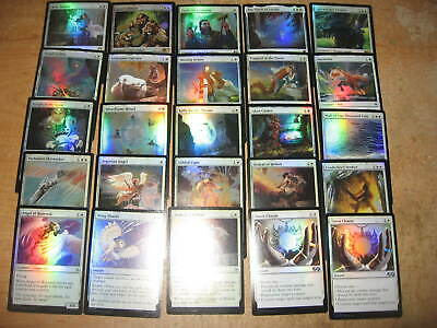 MTG Magic the gathering - lot of 25 foils with Rares! - WHITE