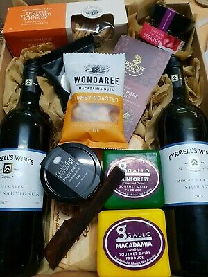 Cheeseboard with Two Wines GIFT HAMPER OZ WIDE Delivery - $25 WE ALSO SEND OS
