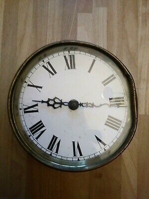 antique brass ships clock