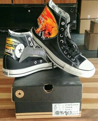 NEUF Hommes Converse Chuck Taylor Leather Hi Top 1T405 Noir Mono 100/% Authentique B
