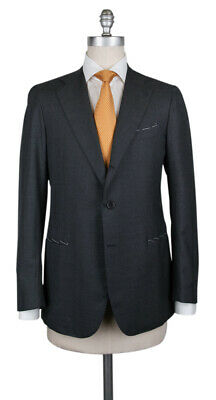New $4200 Borrelli Gray Wool Pick and Pick Suit - (201803125)