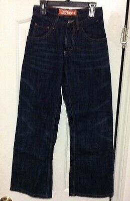 LEE Dungarees Denim Blue Jeans Boys Youth Size 14