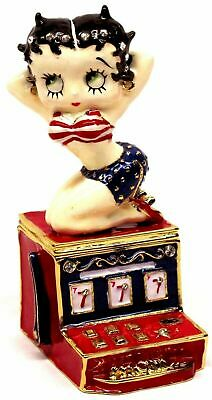"""*Retired* Betty Boop Collectible Metal Figurine Hinged Box """"Hot Slots"""" BB21005"""