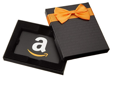 NEW $50 AMAZON Physical Gift Card in Ribbon Box FAST SHIPPING!