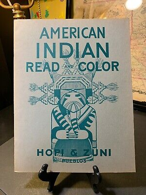 American Indian Read & Color Hopi and Zuni Pueblos by Eugene & Kay Bischoff 1948