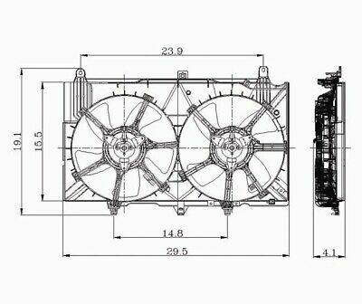 Dual Radiator and Condenser Fan Assembly-Auto Trans TYC 620980