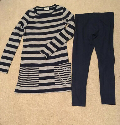 Next Girls Jumper Dress And Legging Set Age 11 Years