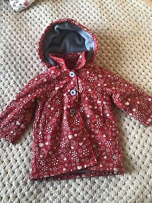 Oscar Lily Girls Fleece Lined Raincoat Age 2-3 Years