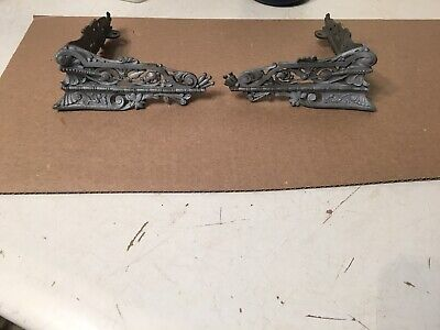 Pair Of Huge Ornate Cast Metal Feet From Ansonia Or New Haven Statue Clock