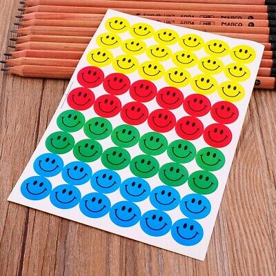 Smiley Face Reward Chart Children's Stickers Kids Emoji Star Daily Routine Smile